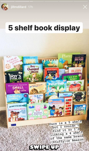 Fans were shocked to see the selection on Duggar's bookshelf.