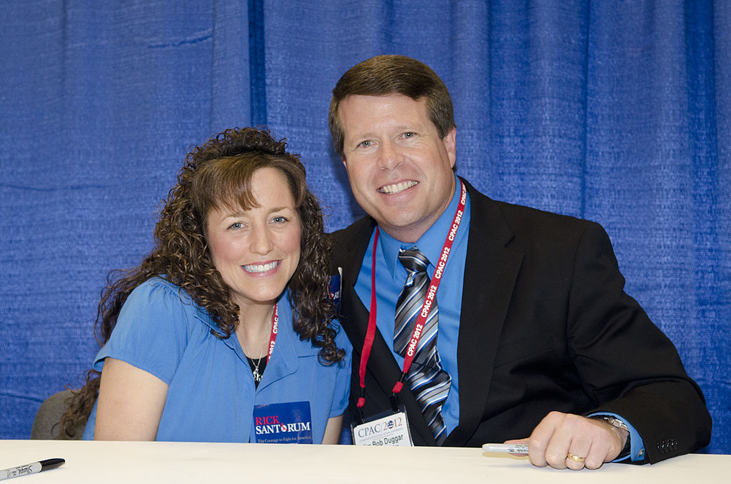 "Michelle Duggar and Jim Bob Duggar promote their book ""A Love That Multiplies"" during the Conservative Political Action Conference"