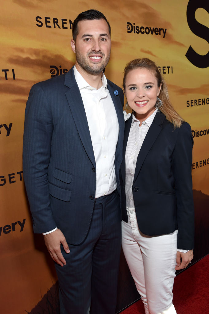 """Jeremy Vuolo and Jinger Duggar attend Discovery's """"Serengeti"""" premiere at Wallis Annenberg Center for the Performing Arts"""