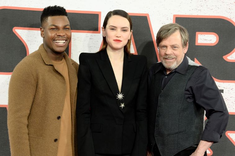 'Star Wars' John Boyega, Daisy Ridley, and Mark Hamill