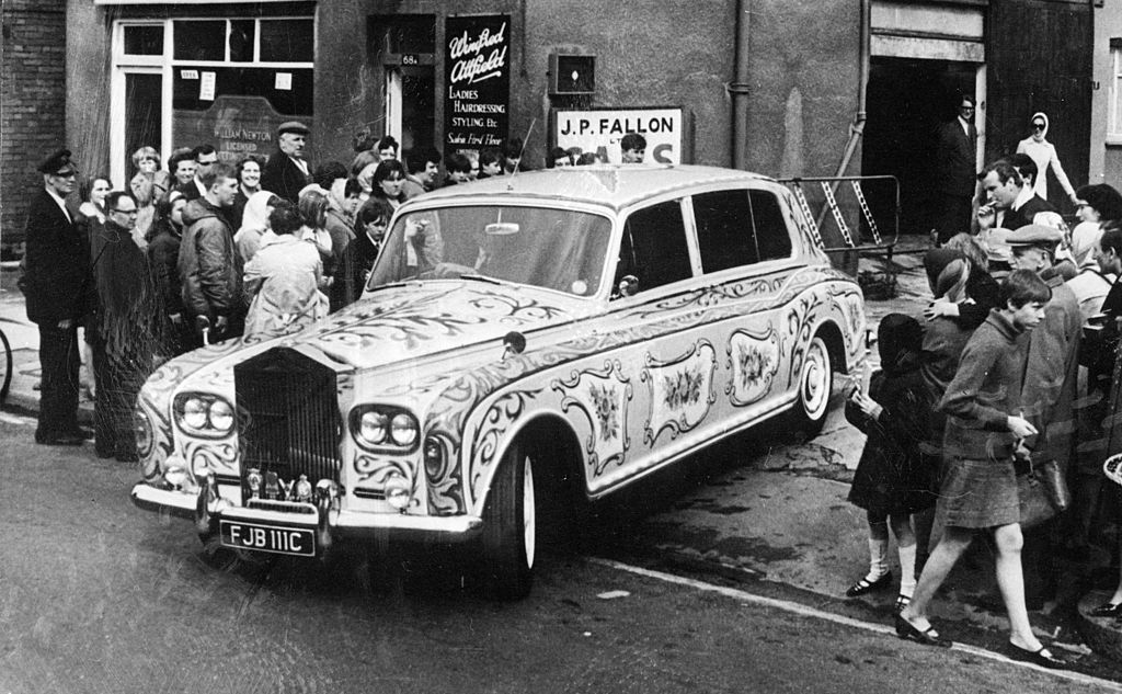 John Lennon's painted Rolls Royce, decorated with zodiac signs and bunches of flowers