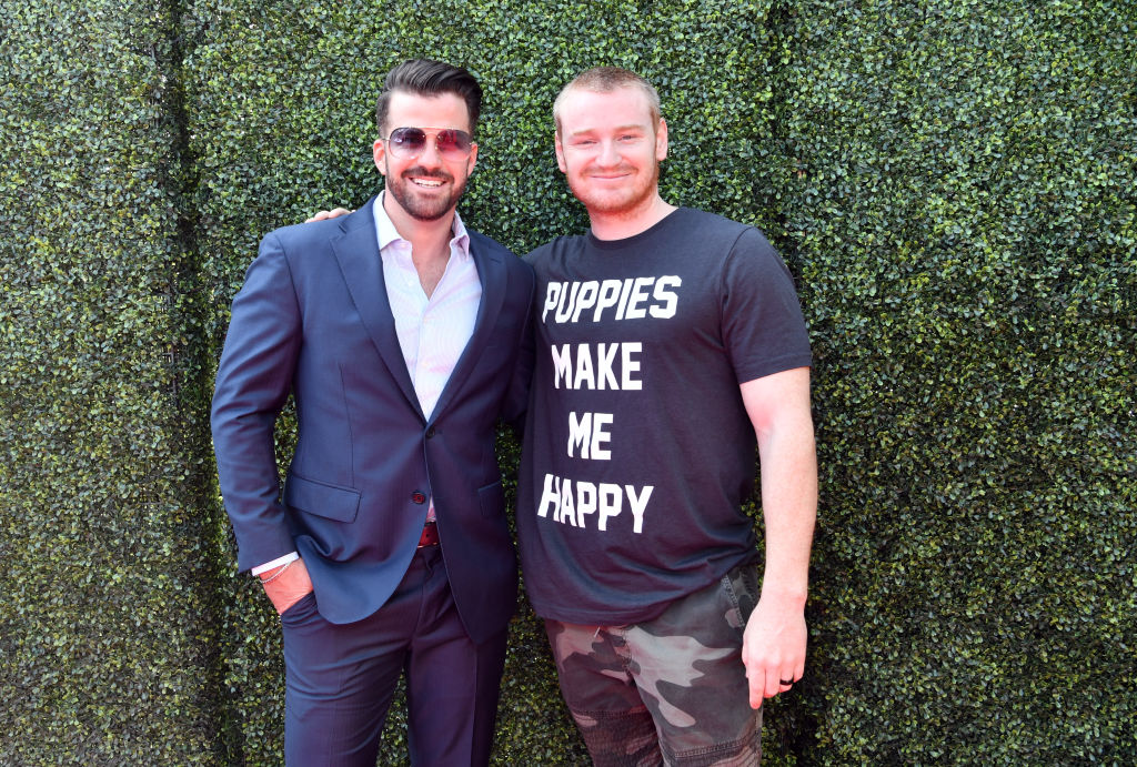 Johnny 'Bananas' Devenanzio (L) and Wes Bergmann attend the 2019 MTV Movie and TV Awards at Barker Hangar