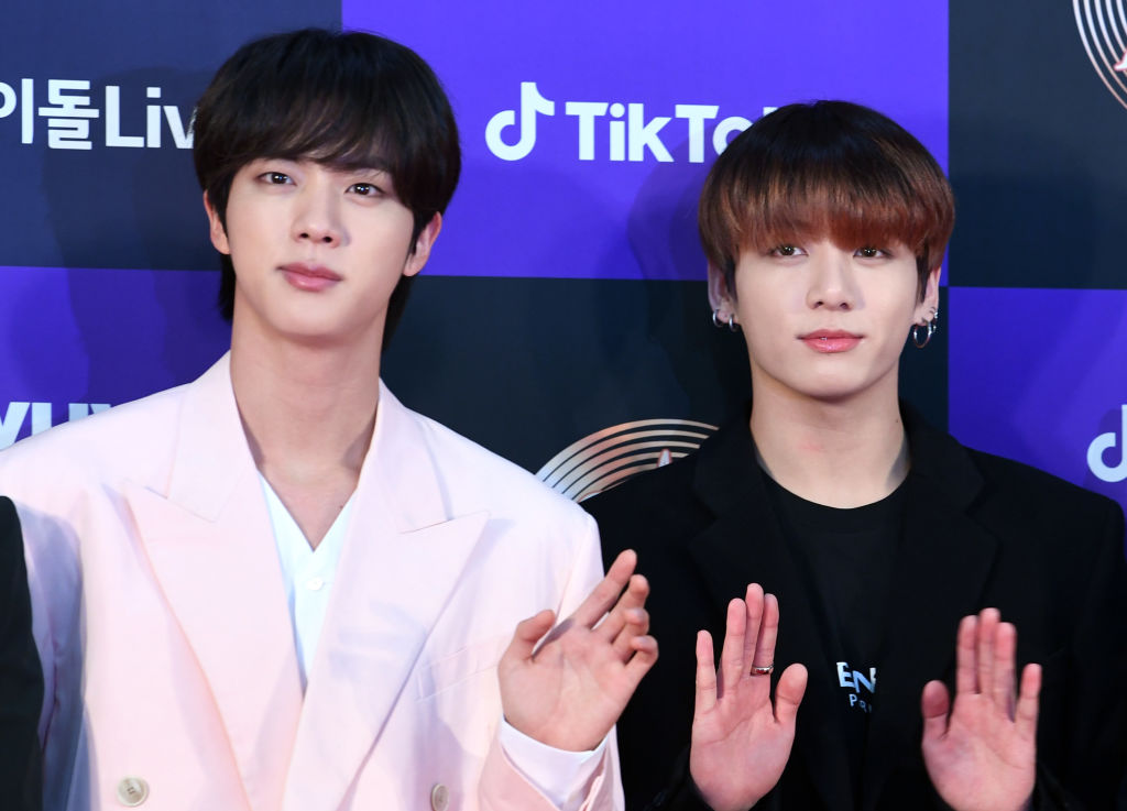 Jin and Jungkook of BTS