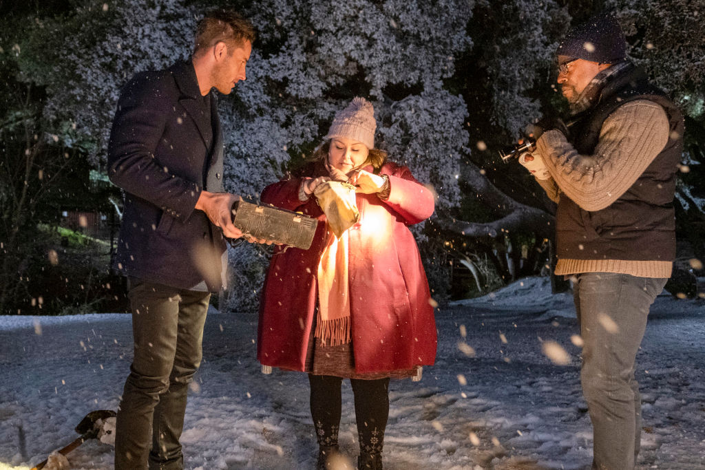 Justin Hartley as Kevin, Chrissy Metz as Kate, Sterling K. Brown as Randall on This Is Us - Season 4