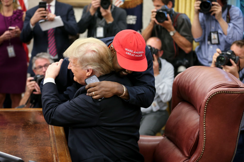 Kanye West and Donald Trump in October 2018