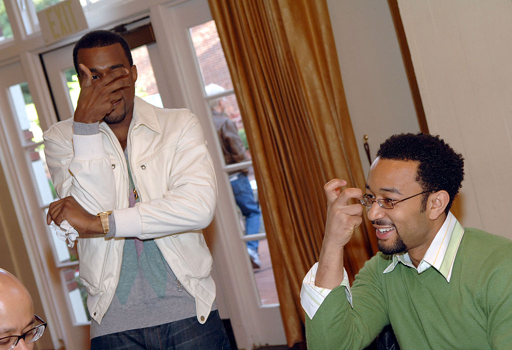 Kanye West and John Legend at an event in 2006