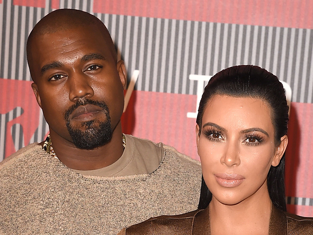 Kanye West and Kim Kardashian West on the red carpet