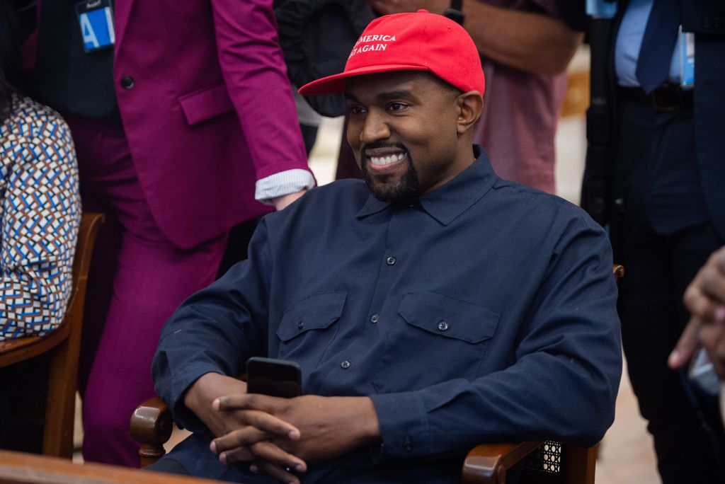 Kanye West in MAGA Hat at the White House