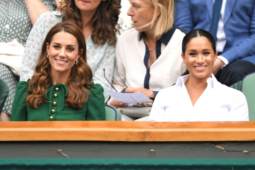 Kate Middleton and Meghan Markle smiling