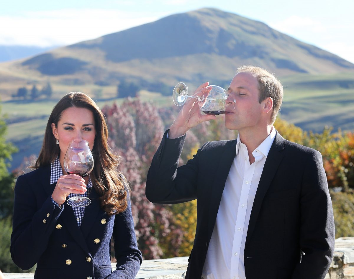 Kate Middleton and Prince William sample wine in 2014