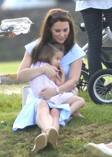 Kate Middleton embraces Princess Charlotte at Maserati Royal Charity Polo Trophy in 2018