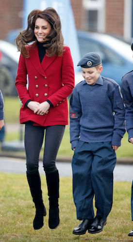 Kate Middleton jumps while attending a 2017 event
