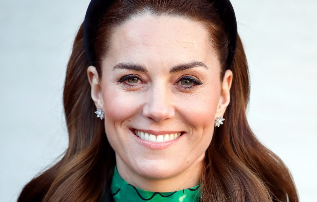 Kate Middleton smiles during a visit to Ireland in March 2020