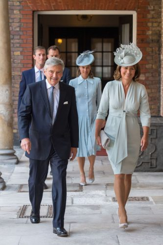 Middleton family arrives at the christening of Prince Louis, 2018
