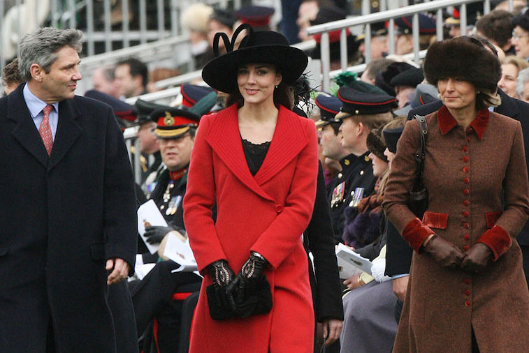 Kate Middleton with her parents, Michael and Carole