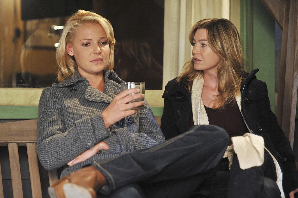 Katherine Heigl and Ellen Pompeo of 'Grey's Anatomy'