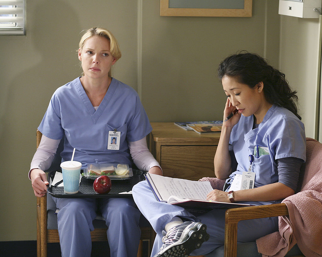 Katherine Heigl and Sandra Oh of 'Grey's Anatomy'
