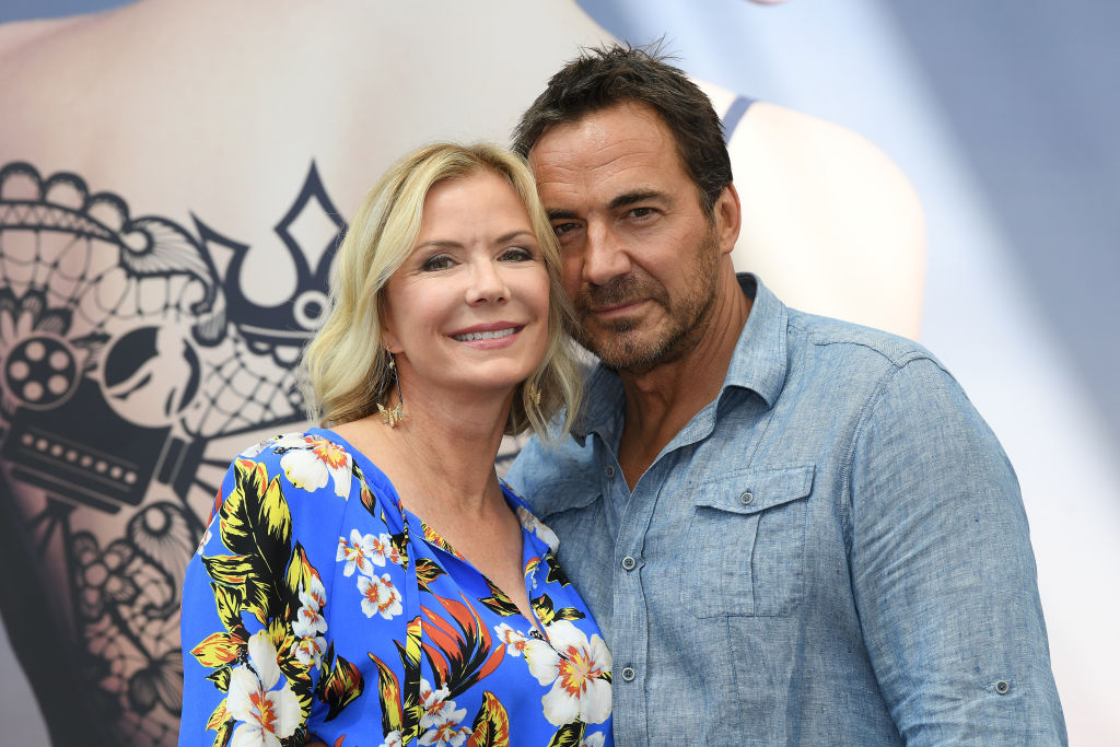 Katherine Kelly Lang and Thorsten Kaye smiling
