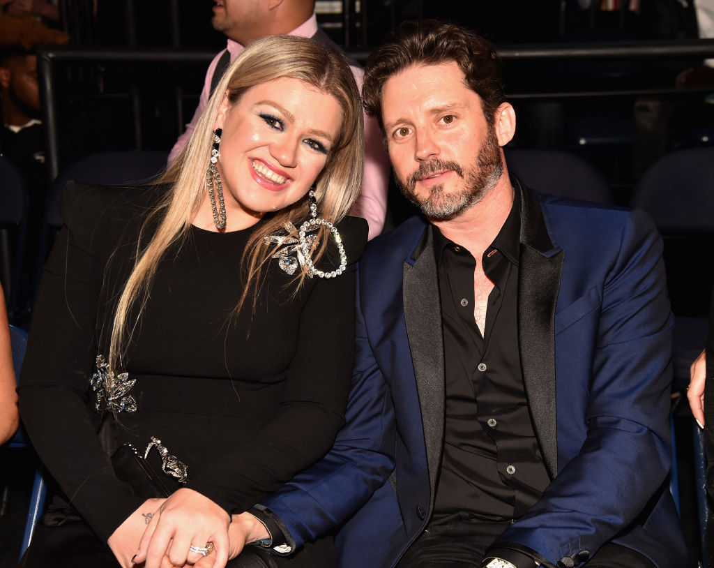 Kelly Clarkson and Brandon Blackstock attend the 2018 CMT Music Awards