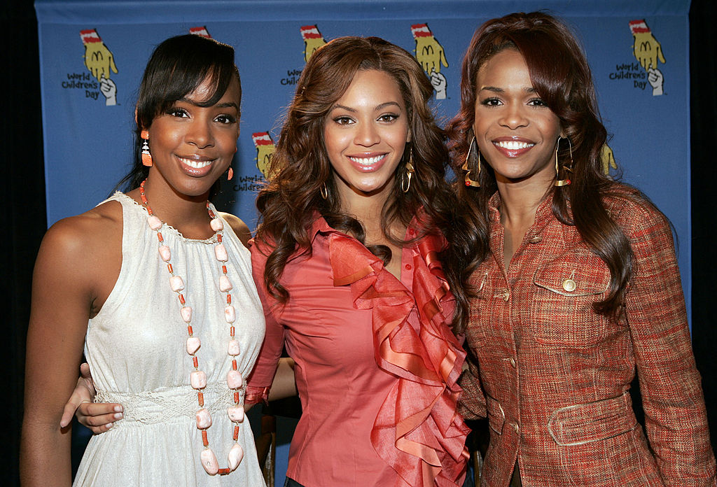 Kelly Rowland, Beyoncé Knowles, and Michelle Williams in 2005