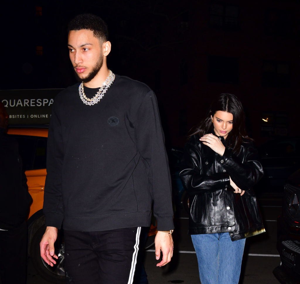 Kendall Jenner and Ben Simmons walking together