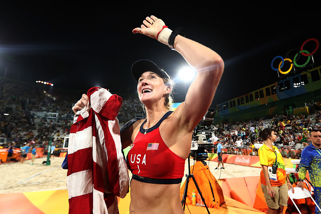 Kerri Walsh Jennings at the Beach Volleyball Women's Bronze medal match at the Rio 2016 Olympic Games   Ezra Shaw/Getty Images