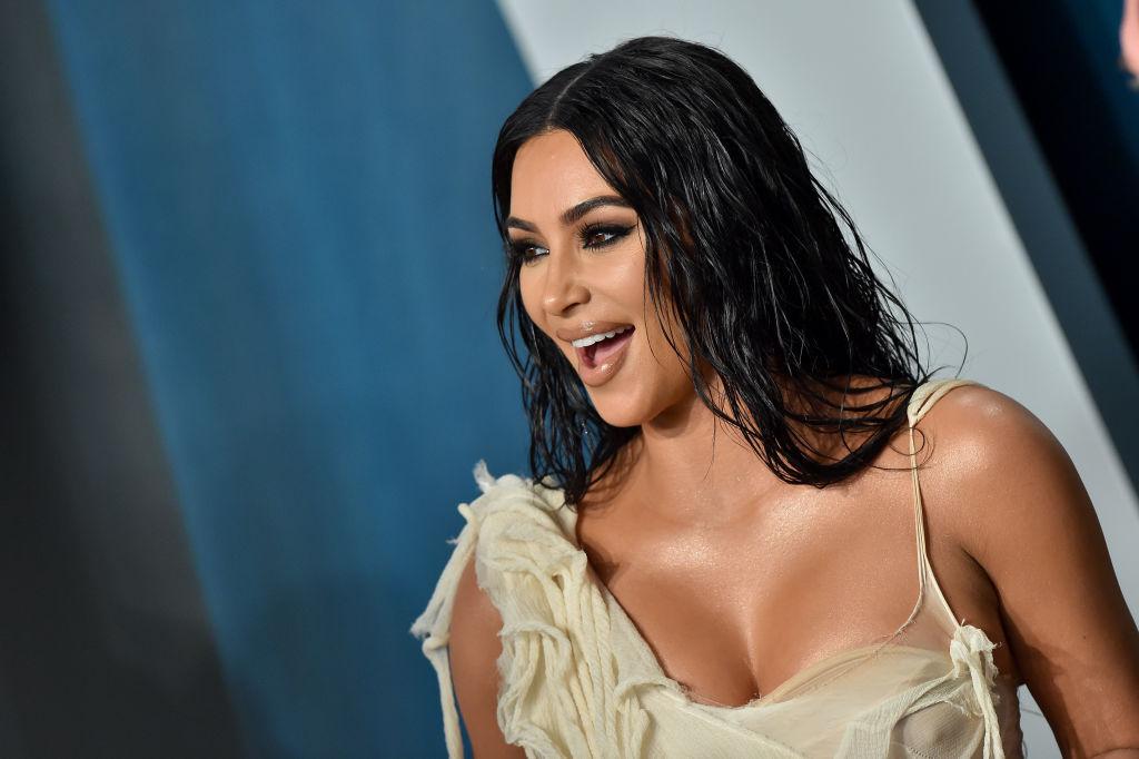 Kim Kardashian West at a party