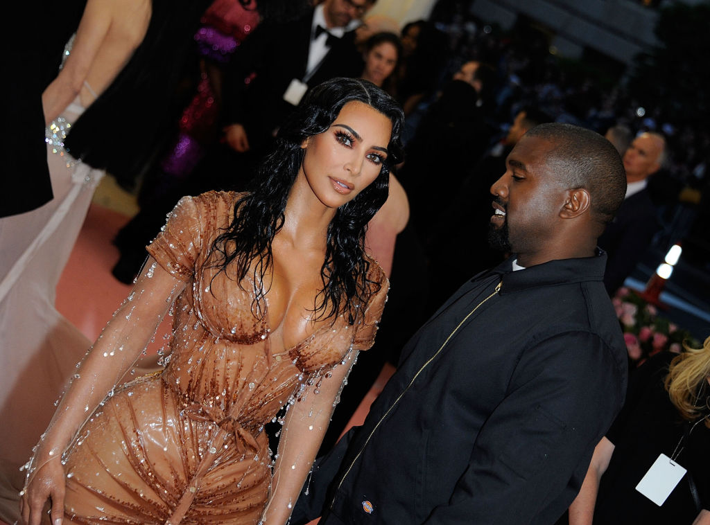 Kim Kardashian West and Kanye West at the 2019 Met Gala