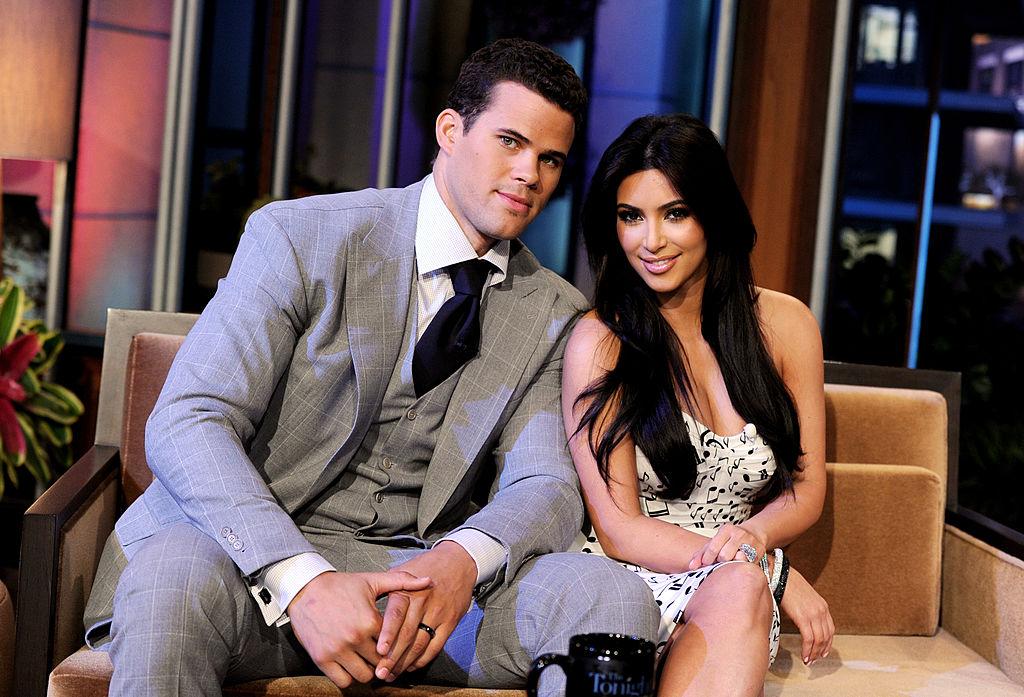 Kim Kardashian and Kris Humphries appearing on TV
