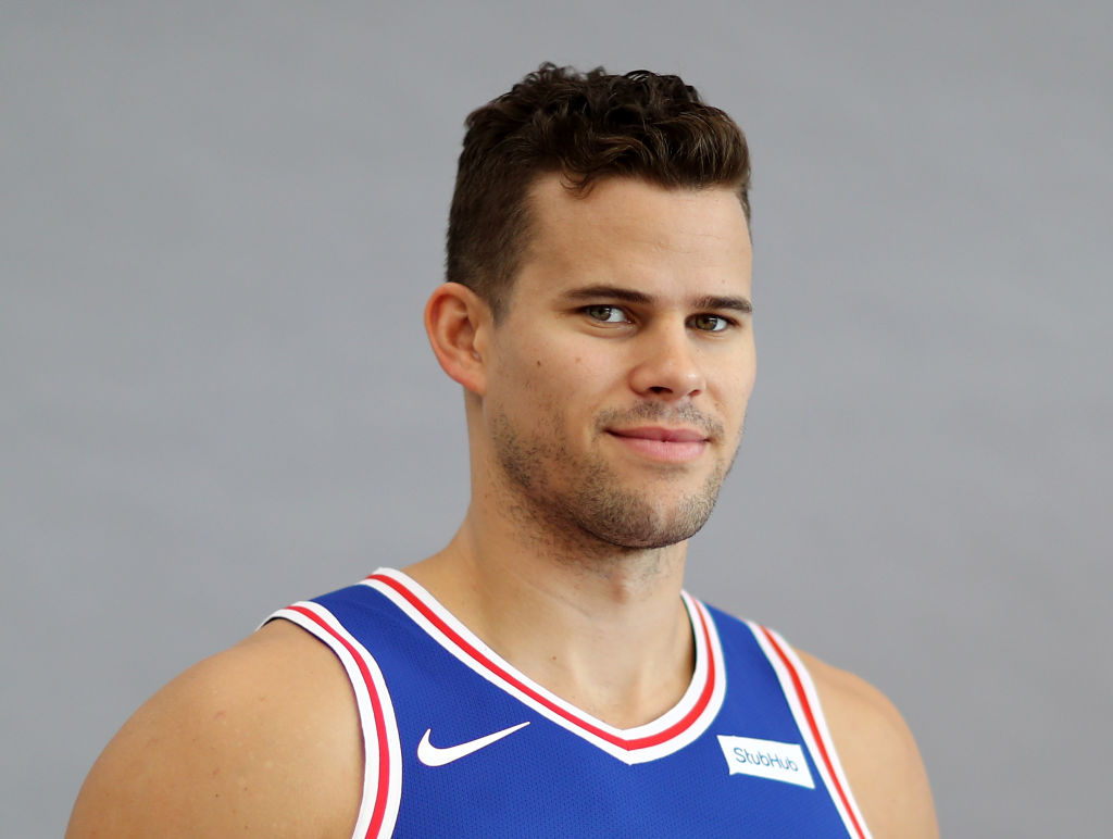 Kris Humphries posing for a photo in 2017
