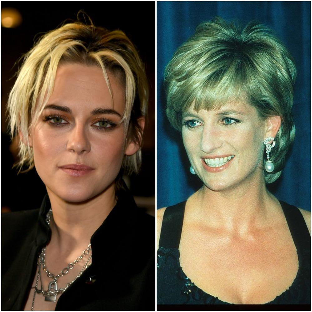 (L) Kristen Stewart, (R) Princess Diana
