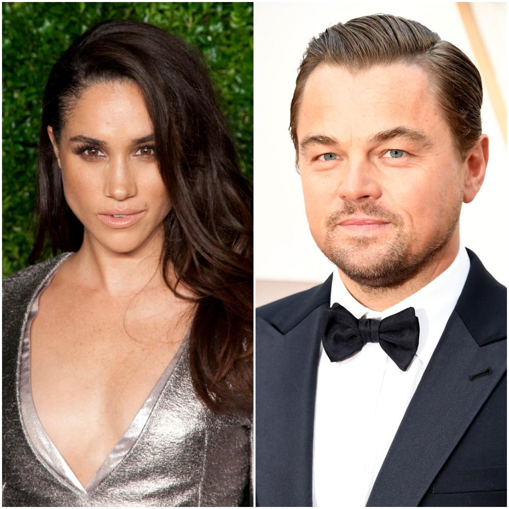 (L) Meghan Markle, (R) Leonardo DiCaprio
