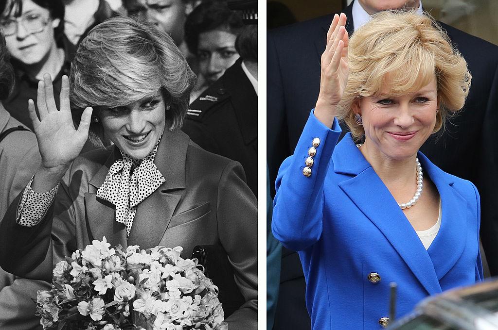 (L) Princess Diana, (R) Naomi Watts