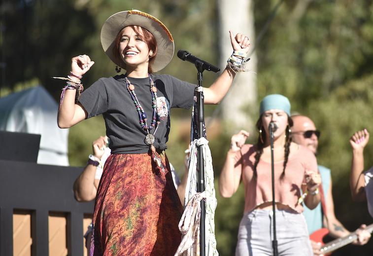 Lauren Daigle performs onstage