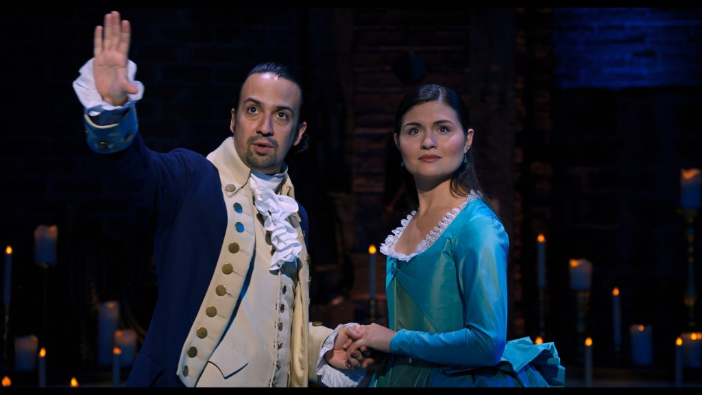 Lin-Manuel Miranda and Phillipa Soo