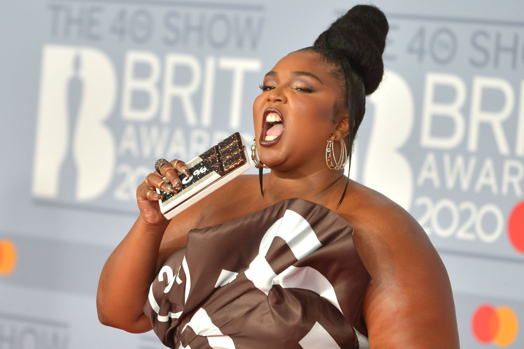 Lizzo at the Brit Awards