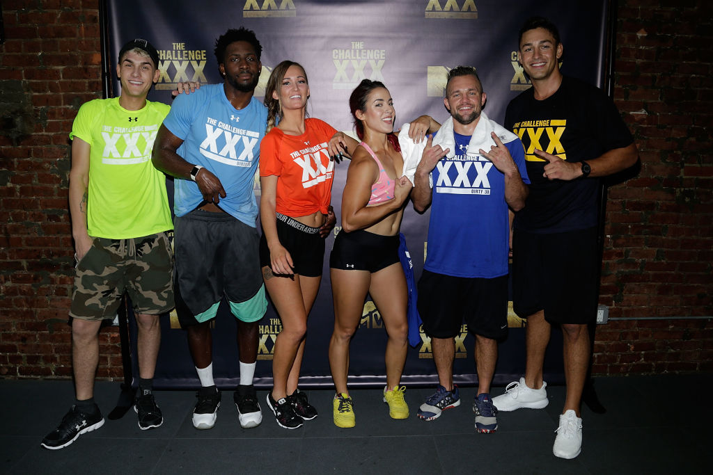 (L-R) Shane Raines, Derrick Henry, Ashley Mitchell, Cara Maria Sorbello, Derrick Kosinski, and Tony Raines attend 'The Challenge XXX': Ultimate Fan Experience