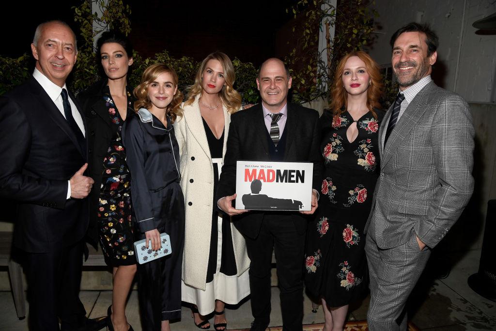 Benedikt Taschen, actors Jessica Pare, Kiernan Shipka, January Jones, Matthew Weiner, Christina Hendricks and Jon Hamm