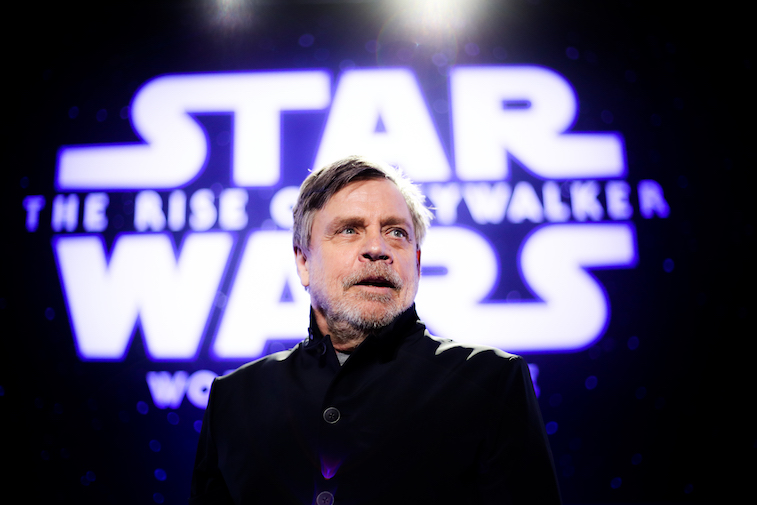 Mark Hamill on the red carpet