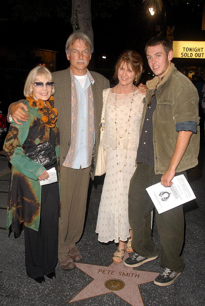 NCIS star Mark Harmon, Sean Harmon, Pam Dawber, and Elyse Knox