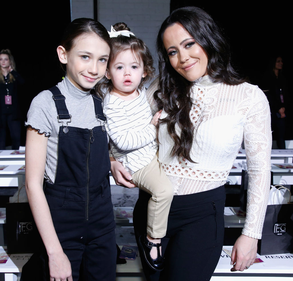 Maryssa Eason, Ensley Eason and Jenelle Evans attend the Indonesian Diversity FW19 Collections