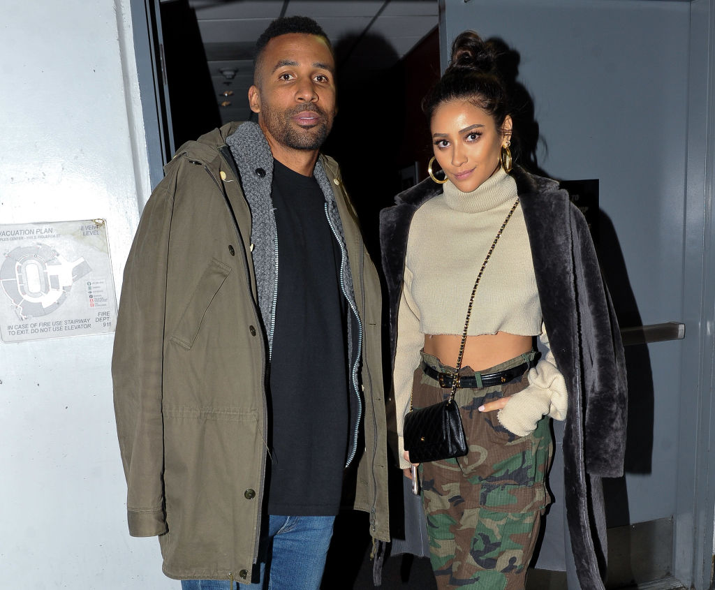 Shay Mitchell and her boyfriend and baby daddy Matte Babel