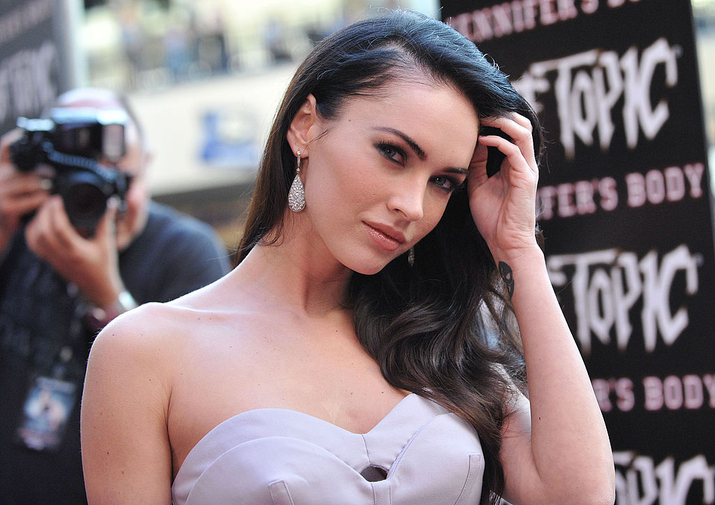 Actress Megan Fox arrives at 'Jennifer's Body' Hot Topic Fan Event