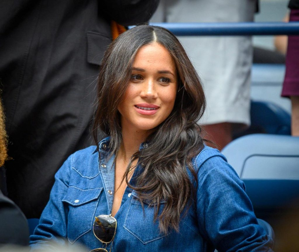 Meghan Markle, Duchess of Sussex was in Serena Williams' box during the Williams match against Bianca Andreescu of Canada during the Women's Final at the US Open at the USTA Billie Jean King National Tennis Center in Flushing, New York on Saturday, September 7, 2019