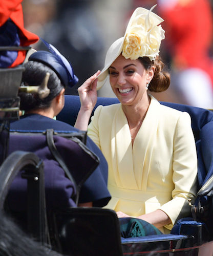 Meghan Markle makes Kate Middleton laugh at Trooping the Colour.