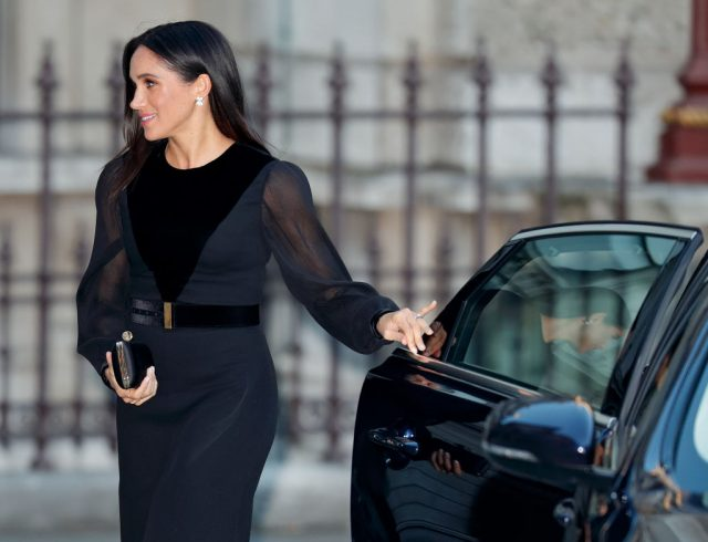Meghan Markle arrives to open 'Oceania' at the Royal Academy of Arts