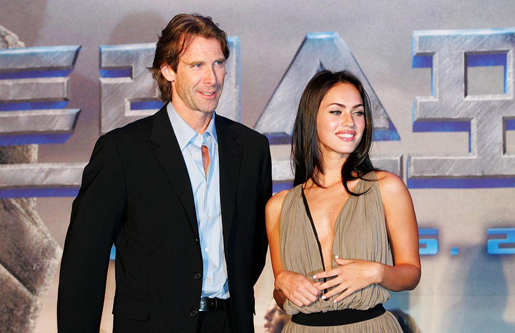 Michael Bay and Megan Fox