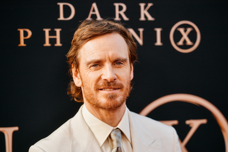 Michael Fassbender on the red carpet