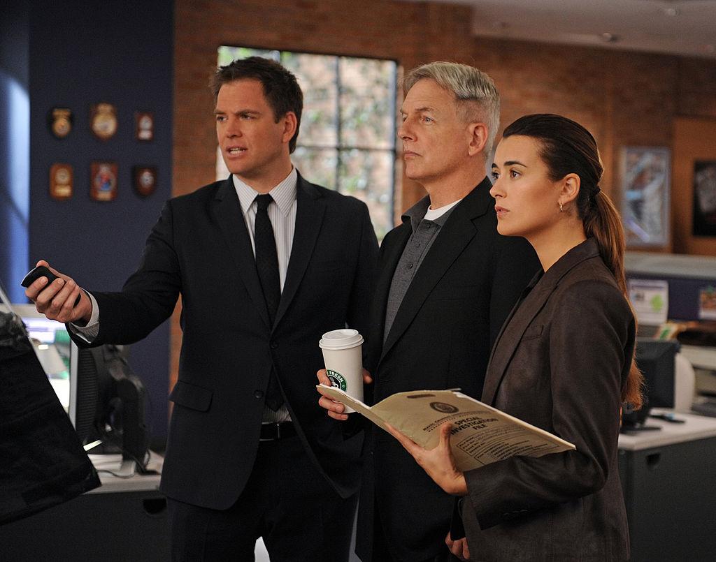 Michael Weatherly, Mark Harmon, and Cote de Pablo  | Richard Foreman/CBS via Getty Images