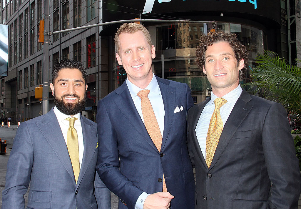 """Roh Habibi, Andrew Greenwell and Justin Fichelson attend """"Million Dollar Listing San Francisco"""" Rings The Nasdaq Stock Market Opening Bell"""